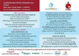 SM Világnap 2019. meghívó és program